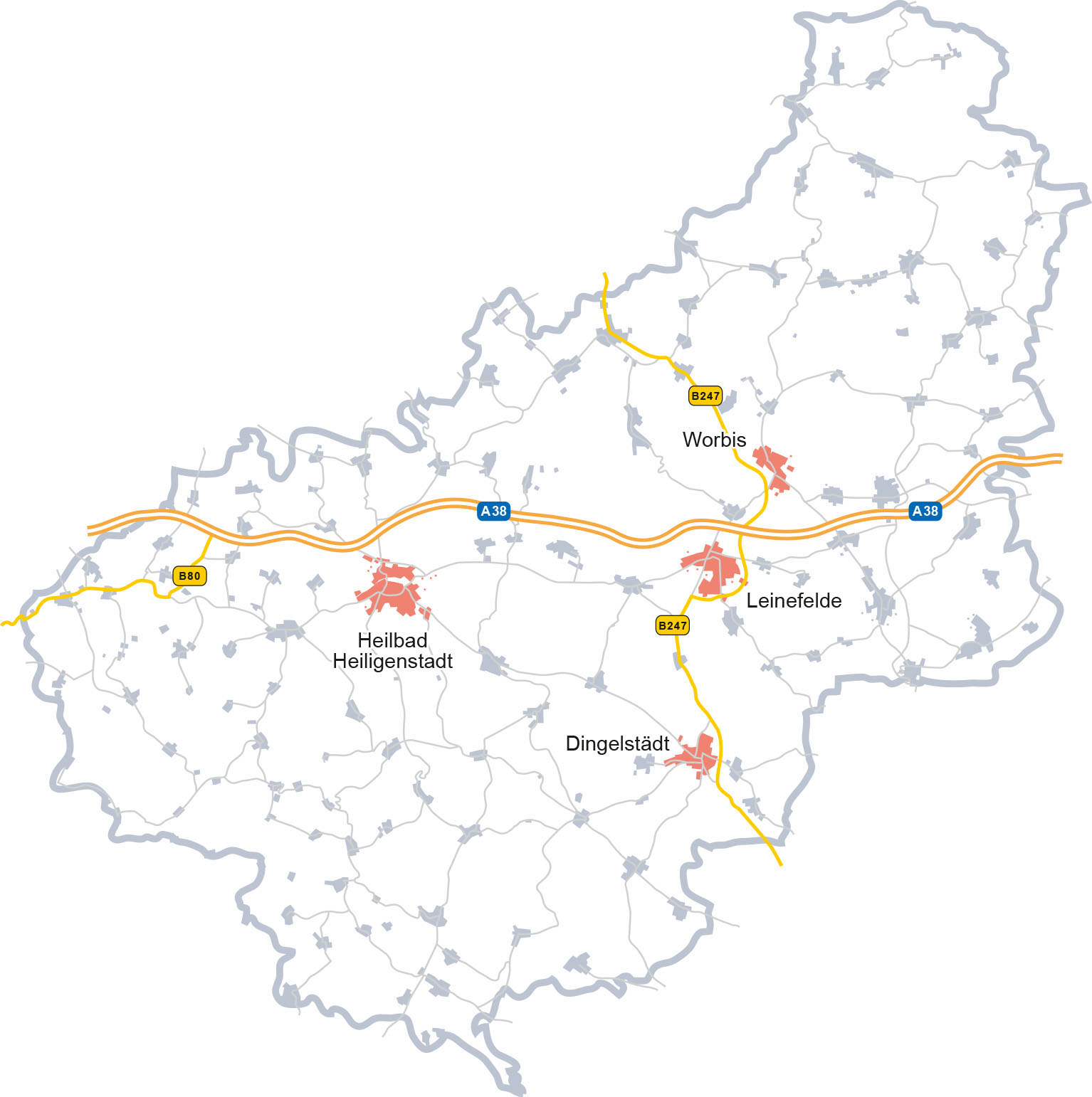 Eichsfeldwerke Gmbh Ladenetzkarte